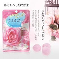 日本Kracie嘉娜宝香体糖 玫瑰芳香超Q胶原蛋白软糖32g 迷人气息,日本OL的最爱!