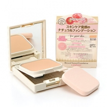 日本CANMAKE熏衣草玫瑰种子精华保湿自然粉饼(温水可卸妆)