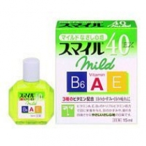 日本狮王SMILE40 EX 3种维生素角膜重生营养型眼药水15ml