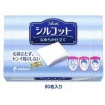 (COSME大赏冠军) Unicharm 尤妮佳丝花柔软化妆棉 82枚 (丝滑型白蓝盒)