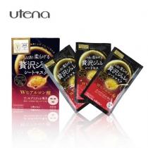(COSME大赏)Utena佑天兰Puresa超浓厚玻尿酸保湿黄金果冻面膜33g*3片(红盒)