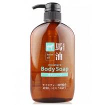 日本熊野油脂无硅弱酸性马油保湿滋润紧致肌肤沐浴露600ml
