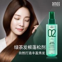 韩国爱茉莉Amos 绿茶发根膨松剂头发丰盈蓬松喷雾140ml