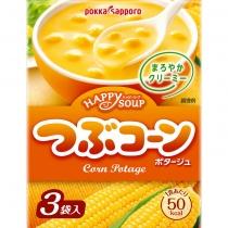 日本POKKA SAPPORO 玉米奶油浓汤速溶汤3袋入 低盐低卡