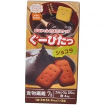 【空腹感解消】NARISUP空腹感 低卡路里饼干豆乳(巧克力可可)3枚×3袋一盒 4955814135577