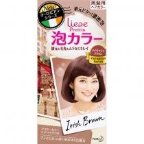 日本 花王 Prettia 新包装泡沫染发膏 爱尔兰棕色4901301336804