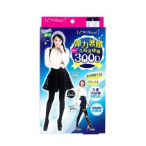 E-Heart 劉伊心 美腳宣言300D超緊束彈力顯瘦褲襪(黑)