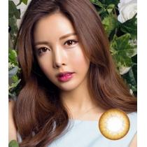 韩国硅水凝胶高端美瞳HIDEL系列 淡彩花韵棕色