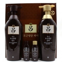 韩国【棕吕】洗发480ml+护发素480ml套盒(改善头皮 防脱生发柔顺)