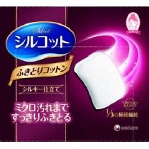 (COSME大赏冠军)日本Unicharm尤妮佳化妆棉32入(擦拭型去角质紫色)